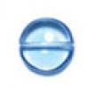 Glass Bead Flat 14/6mm Light Sapphire Round Penny Beads - Strung